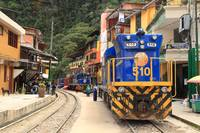 Rail Road and Trains, Aguas Calientes, Peru