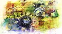 Decorative Sunflowers Mixed Media A772016