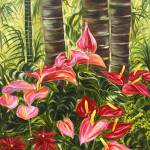 """Anthurium Celebration Hawaiian Flower Art"" by JennyFloravita"