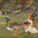 """Francis Sydney Muschamp - Tennis Players 1882"" by motionage"