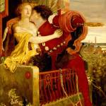 """Ford Madox Brown, Romeo and Juliet parting on the"" by motionage"