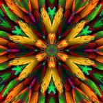 """""""Abstract Multi Coloured Armour Flower"""" by ecolosimo"""