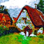 """""""country cottages 22D2"""" by ArtTylers"""
