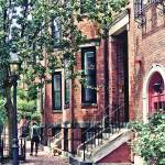 """Boston MA - Walking the Dog on Mount Vernon Street"" by susansartgallery"