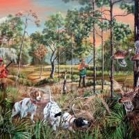 Bob-white Quail Hunting the Florida Backwoods Art Prints & Posters by Daniel Butler