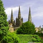 """Lichfield Cathedral from the Garden"" by rodjohnson"