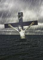 Jesus on the Cross at the Sea
