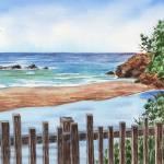 """""""Seascape Ocean Shore Low Tide"""" by IrinaSztukowski"""