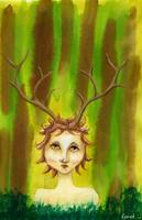 Fantasy Deer Person Portrait