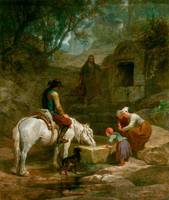 Frederick Goodall - The Drinking Trough, A Scene i