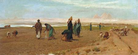 Frederick Goodall - The Sheikh's Daughter Sowing t