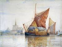 Frederick James Aldridge - Sailing Barges at Malde