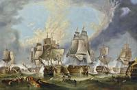 George Clarkson Stanfield - The Battle of Trafalga