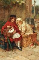 George Sheridan Knowles - A Peek in the Basket
