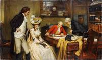 George Sheridan Knowles - Signing the Marriage Con