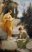 Henry Thomas Schaefer - Classical Women Reading by