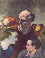 Honore Daumier (1808-1879), The Family on the barr