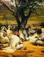Horace Vernet - Arab Chieftains in Council (The Ne