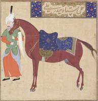 Horse and Groom, by Haydar Ali, early 16th century