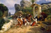 Horace Vernet - Italian Brigands Surprised by Papa