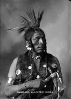 Howard King, Portrait of Cree Indian Warrior ca. 1