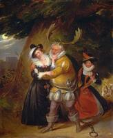 James Stephanoff - Falstaff at Herne's Oak, from -