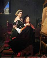 Jean-August-Dominique Ingres - Raphael and the For
