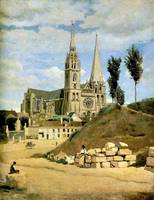 Jean-Baptiste Camille Corot - Chartres Cathedral,