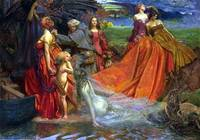 John Byam Liston Shaw - Now is Pilgrim Fair Autumn