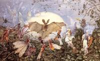 John Anster Fitzgerald - Fairy Hordes Attacking a