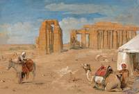 John Frederick Lewis - The Ramesseum at Thebes 184