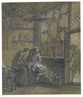 Jean-Baptiste Oudry RAGOTIN BEING TREATED WITH A S