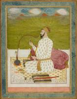 A PORTRAIT OF A NOBLEMAN ON A TERRACE. India, Decc