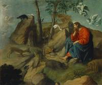 Christ in the Wilderness ,  Moretto da Brescia (Al