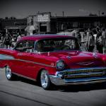 """""""Parade Red 1957 Chevy"""" by CDBDesign"""