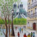 """""""Paris Notre Dame Cathedral"""" by FradetFineArt"""