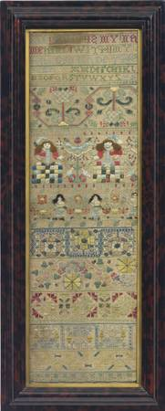 CHARLES II SILK AND CANVASWORK SAMPLER, JAN HUIT,