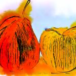 """Pear And Apple Watercolor"" by Kirtdtisdale"