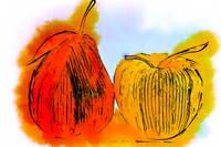 Pear And Apple Watercolor