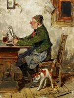 Hugo Kauffmann, Innkeeper with a Cat