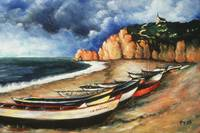 Normandy Coast - Landscape Oil Painting