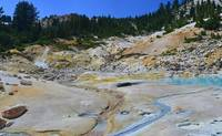Bumpass Hell - thermal area colors