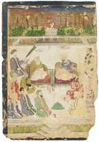 A MINIATURE PAINTING OF A MEETING OF SUFIS. India,