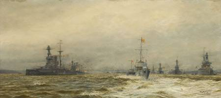 William Lionel Wyllie ,  Review of the Grand Fleet