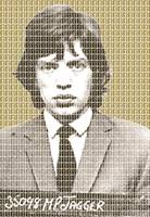 Mick Jagger Mug Shot - Gold