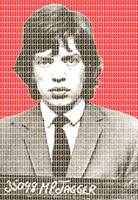 Mick Jagger Mug Shot - Red
