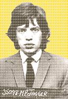 Mick Jagger Mug Shot - Yellow