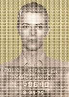 David Bowie Mug Shot - Gold