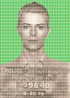 David Bowie Mug Shot - Green