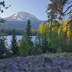 """Photographing Lassen Peak & Manzanita Lake sunset"" by JohnChaoPhoto"
